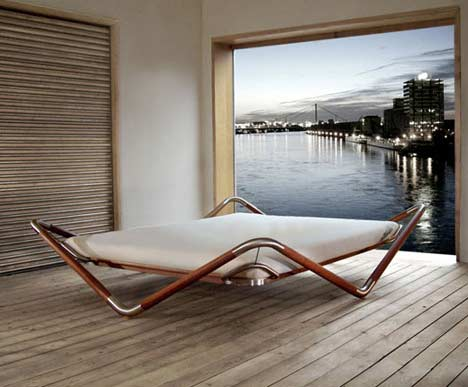 unusual bed design ideas cat in water