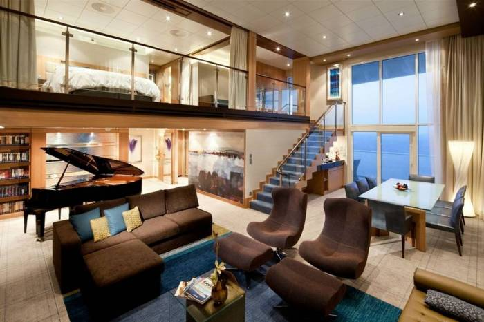 The Royal Loft Suite aboard the Oasis of the Seas
