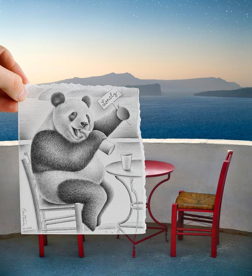 Amazing Camera Vs Pencil Artwork By Ben Heine
