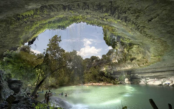 The Hamilton Pool Nature Preserve in Texas, USA