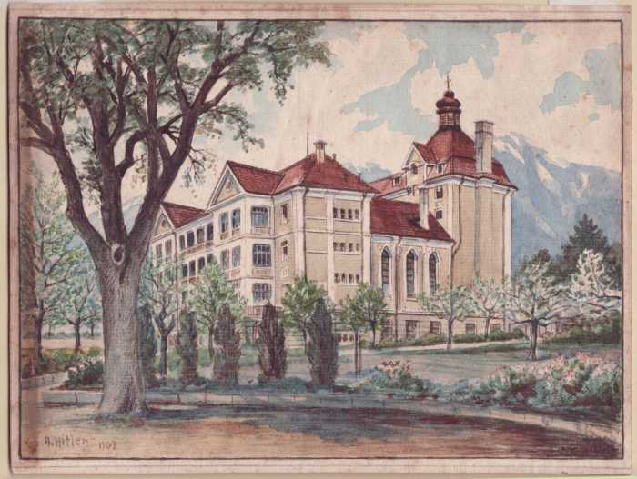 the-old-building-in-stand-of-trees-1909