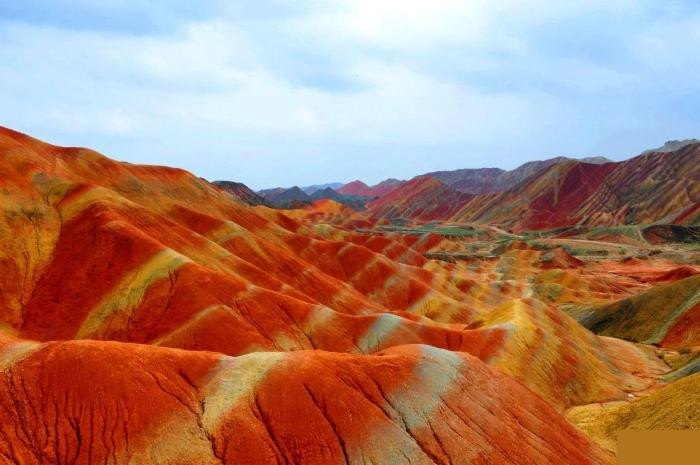 Rock Formations of Zhangye Danxia - the Most Colourful Place on Earth