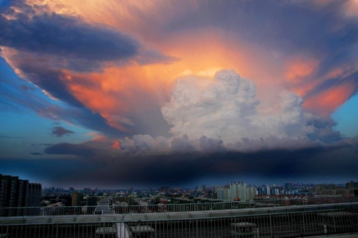 Giant clouds over Beijing