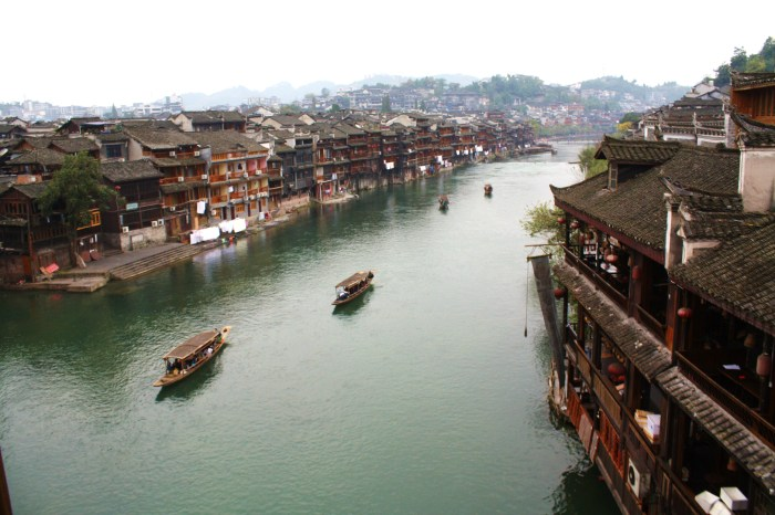 Fenghuang art and literature, cat in water