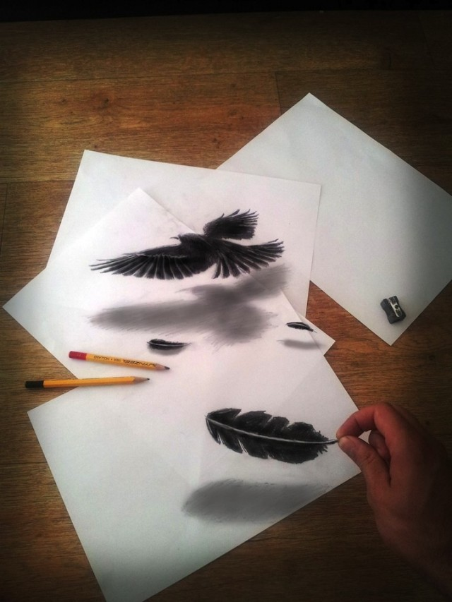 3D Pencil-Drawings on Paper