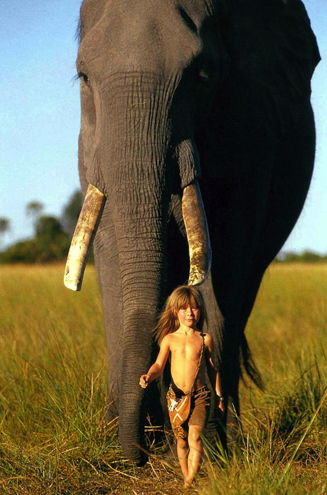 A Girl Who Was Raised in African Wildlife