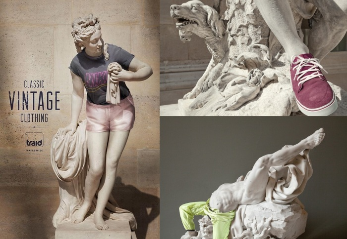 Classical Statues Dressed as Jaunty Hipsters
