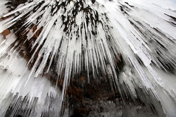 Frozen Path to the Spectacular Lake Superior Ice Caves