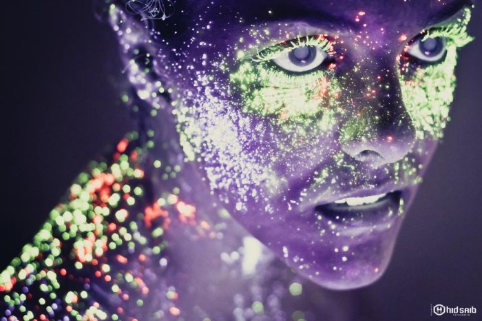 Vibrant Portraits of People Painted With Luminescent Neon