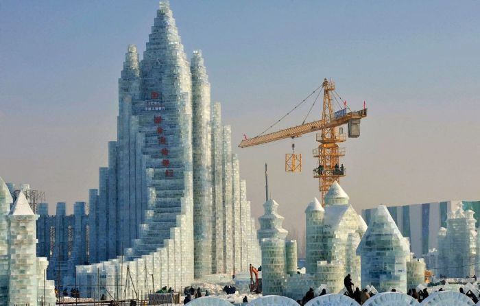 Spectacular City Built Only of Ice and Snow in Chinese Festival